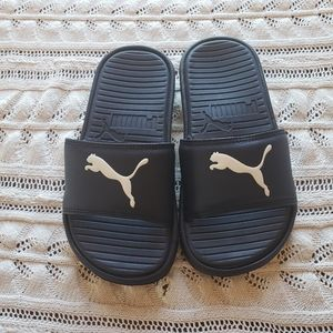 Puma foam sandals navy blue size 13